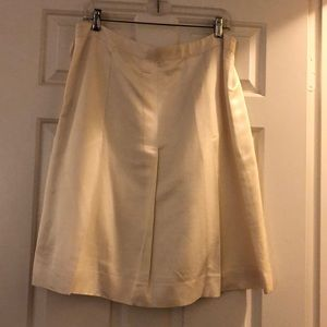 Banana Cream Box-Pleat Skirt